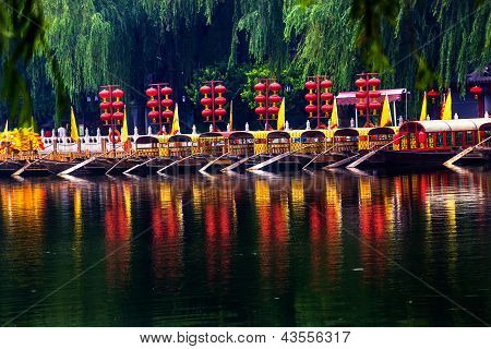 Houhai Lake Tourboats Beijing, China