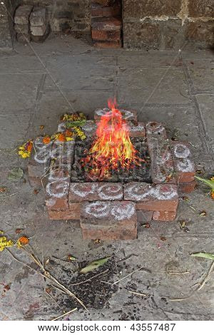 Agnihotra is a Vedic yajña (ritual or sacrifice) performed in orthodox Hindu communities, India