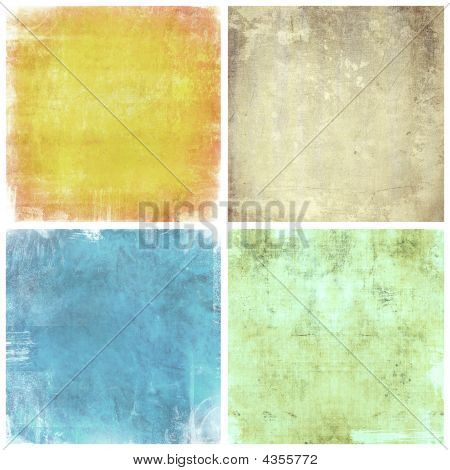 Set Of Grunge Backgrounds