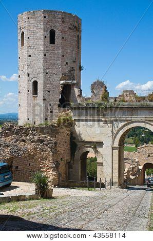 Porta Venere. Spello. Umbria. Italy.