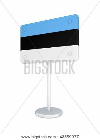 Bunner with flag of Estonia.