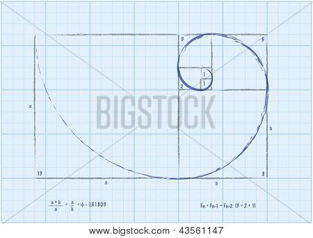 Fibonacci Sequence - Golden Spiral Sketch