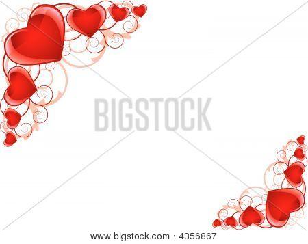 Herzen Rahmen als Hintergrund
