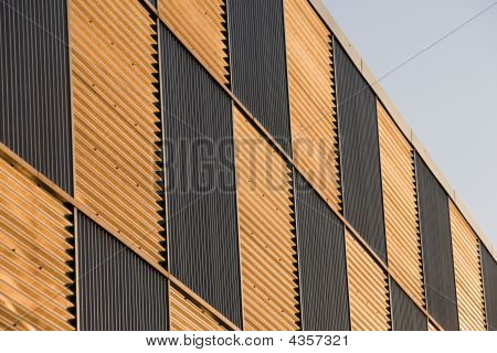Corrugated Facade At Sunset