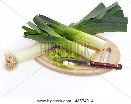 leeks for tasty,spicy salad