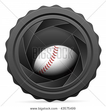 Camera Shutter With Baseball Ball