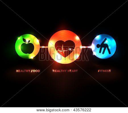 Abstract Wellness symbol