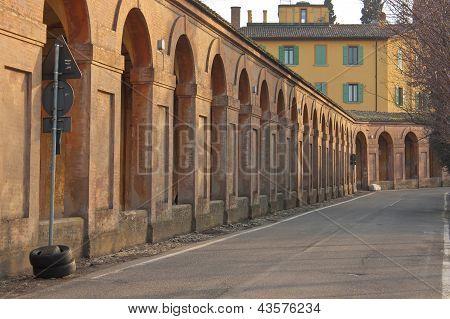 San Luca Arcade In Bologna, Italy
