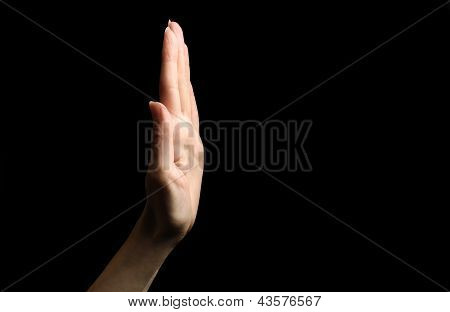 Hold on gesture
