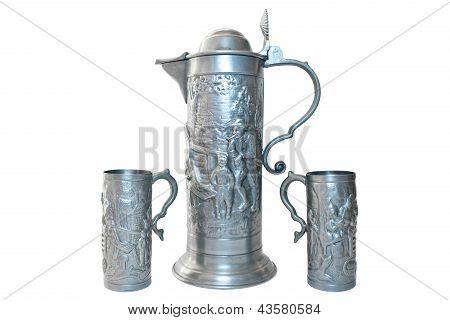 vintage beer mugs
