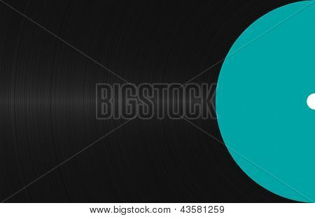 Background With A Black Vinyl Record Close-up
