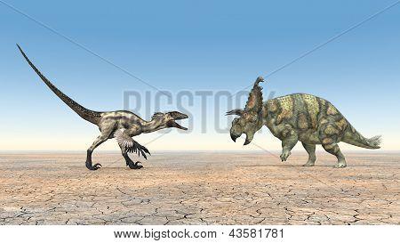 Deinonychus and Albertaceratops