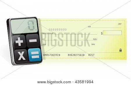 Bankcheck And Modern Calculator