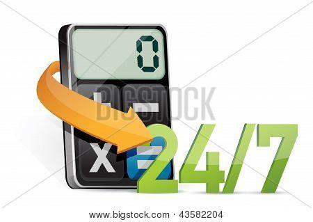 Todo servicio de día y moderna calculadora