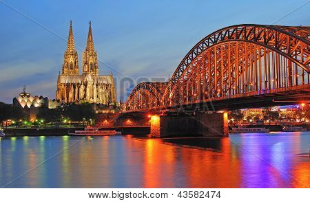Cologne Cathedral,Rhine River,Germany