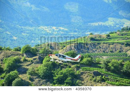Plane Taking Off From Sion Airodrome