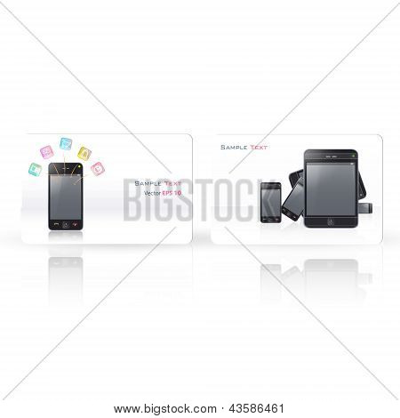 Business Card With Phone. Vector Design.