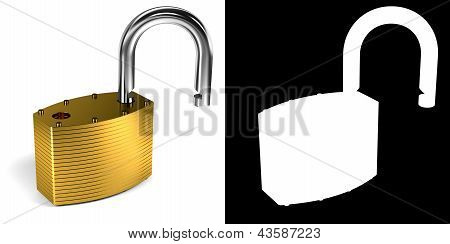 Padlock with alpha mask