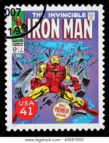 United States Iron Man Superhero Postage Stamp