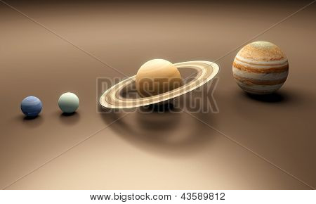 Planets Neptune Uranus Saturn And Jupiter
