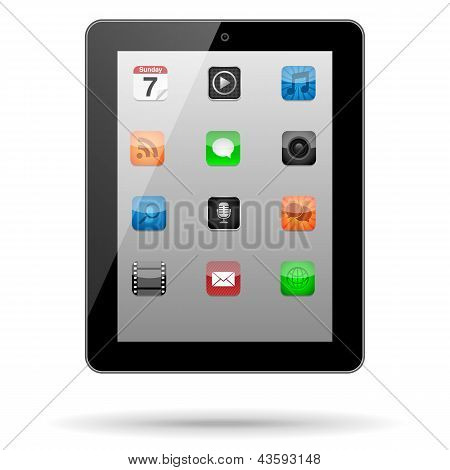 Tablet with App Icons