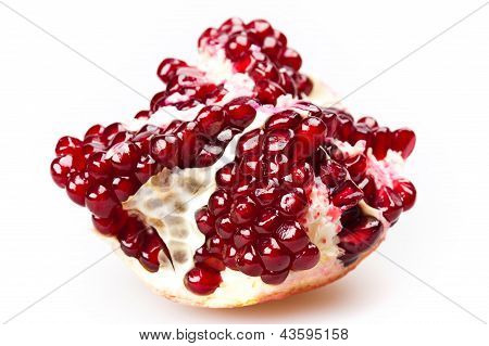 cut ripe pomegranate