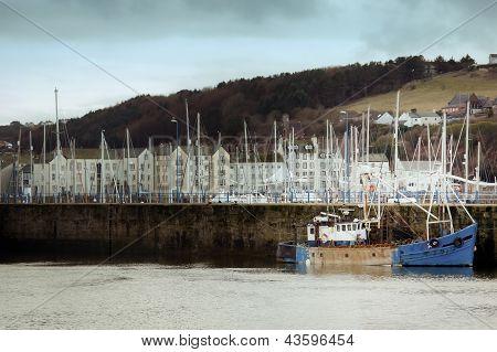 White Haven Harbour In Cumbria Uk