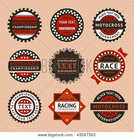 Racing labels - vintage style