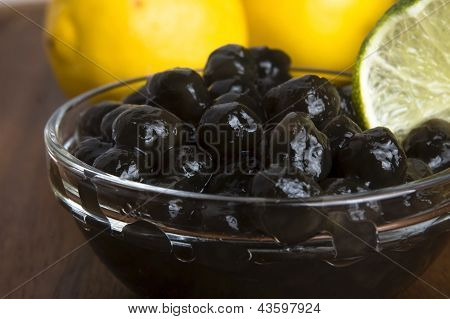 Tapioca Pearls With Lime. White Bubble Tea Ingredients