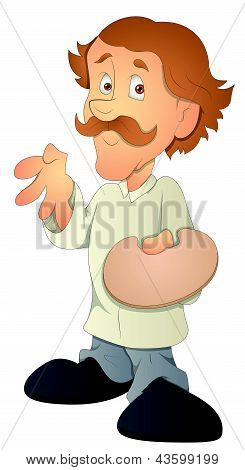Man - Cartoon Character - Vector Illustration