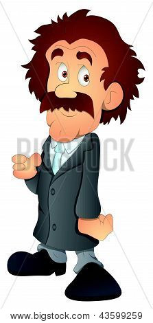 Dirty Man - Cartoon Character- Vector Illustration