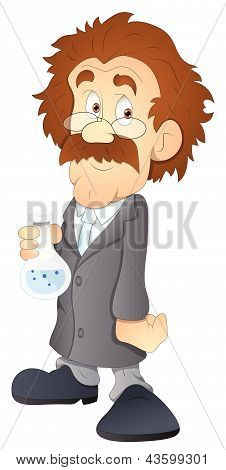 Scientist - Cartoon Character - Vector Illustration