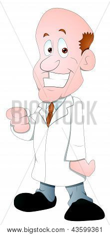 Doctor - Cartoon Character- Vector Illustration