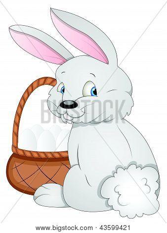 Easter Bunny - Cartoon Character - Vector Illustration