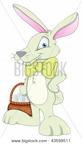 Easter Bunny - Cartoon Character - Vector Illustration