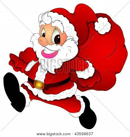 Christmas Santa Cartoon - Vector Illustration