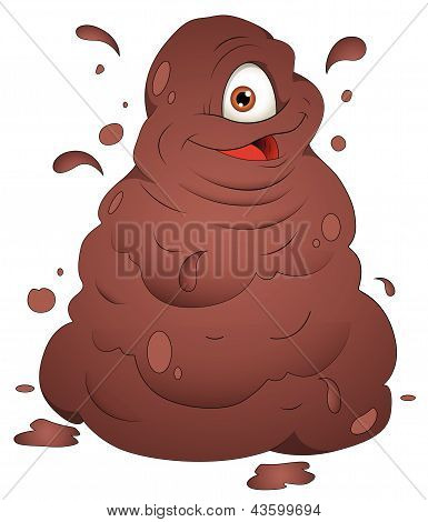 Happy Mud Monster - Vector Illustration