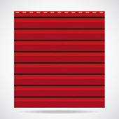 foto of red siding  - Siding texture big panel red color illustration - JPG