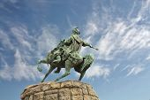 stock photo of hetman  - Monument to the Ukrainian historical and political leader hetman B - JPG