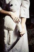 picture of rag-doll  - Horror style shot - JPG