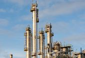 pic of sugar industry  - industrial plant with blue sky and cloudy day - JPG