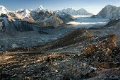 Khumbu valley from Kala Patthar - way to mt Everest base camp