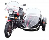 pic of sidecar  - Motorbike with Sidecar isolated with clipping path