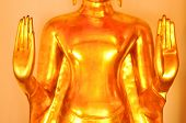 picture of budha  - Closed up hand of budha in Thailand temple - JPG