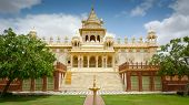stock photo of mausoleum  - Jaswant Thada mausoleum Mehrangarh Jodhpur Rajasthan India - JPG
