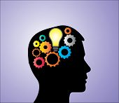 stock photo of thinker  - Concept Illustration of Solution or Idea creation - JPG