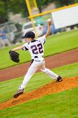 picture of little-league  - Little league baseball pitcher on the mound - JPG