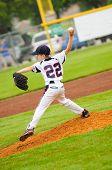 image of little-league  - Little league baseball pitcher on the mound - JPG