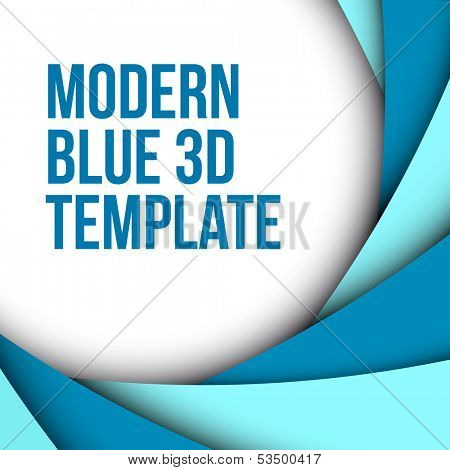 Abstract blue 3d background with custom text