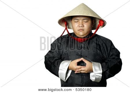Traditional Asian Man Meditating